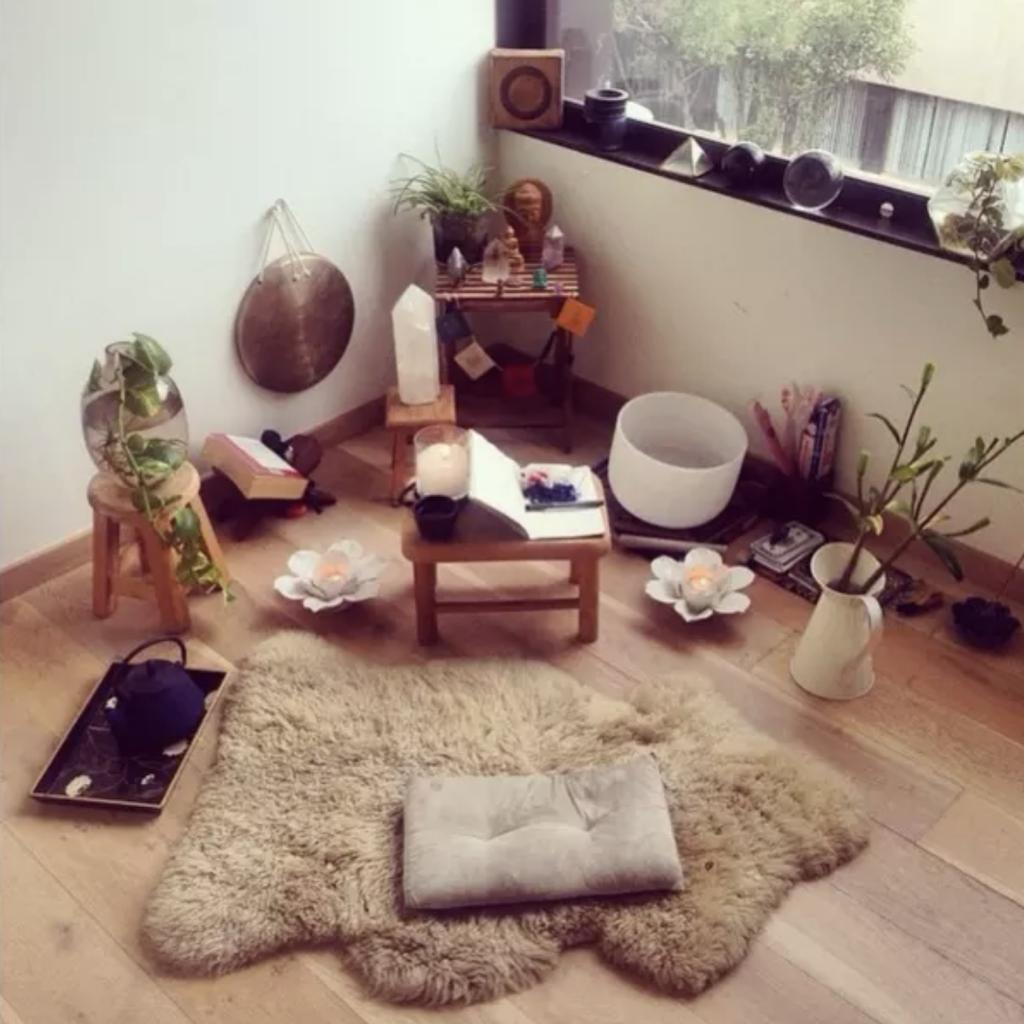 espacio meditacion piedras ejemplo