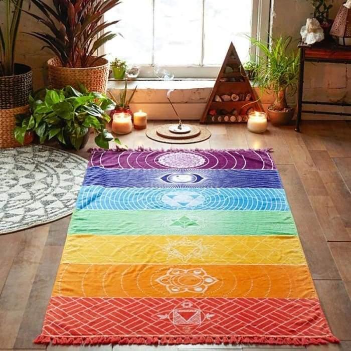 alfombra meditacion 7 chakras