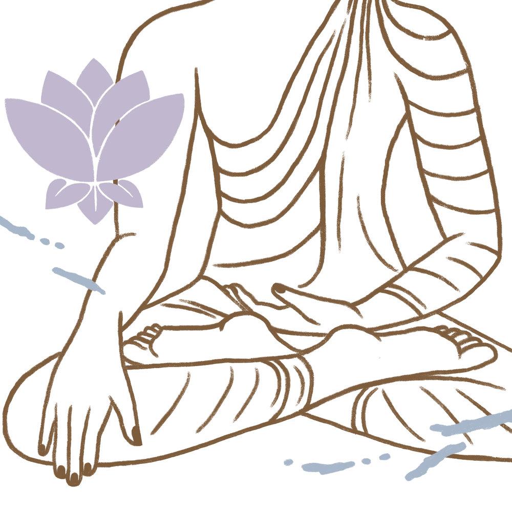 Bhumisparsa mudra Buda