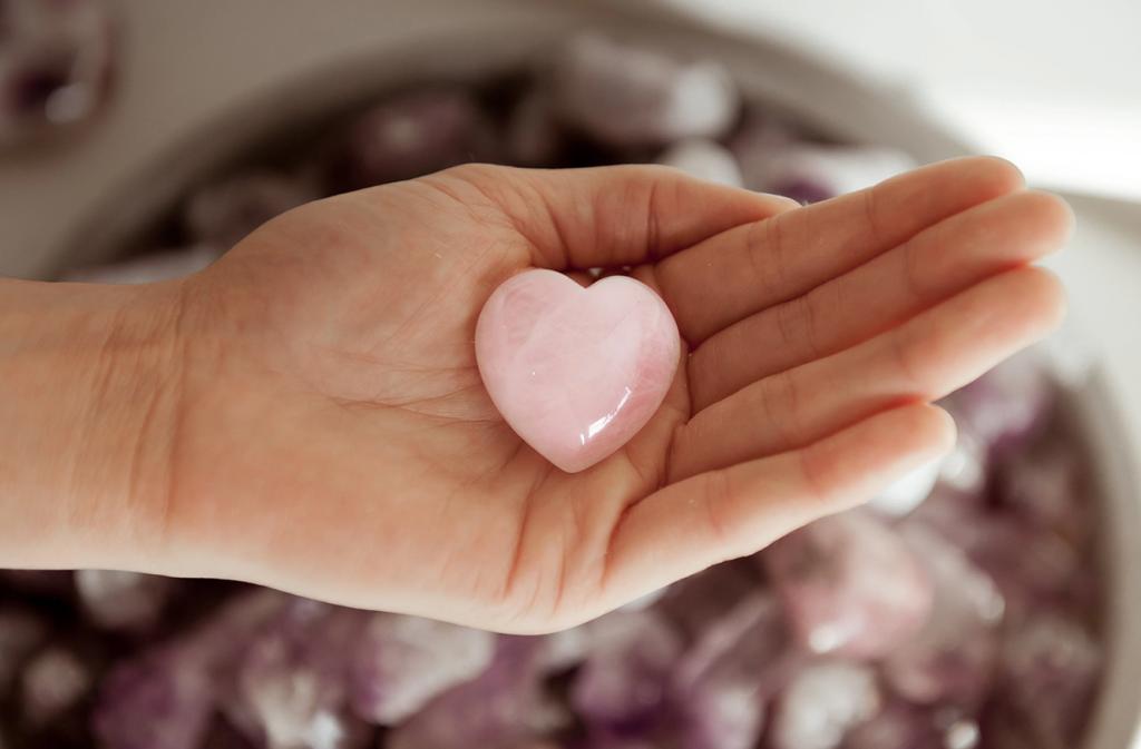 cristal forma corazon