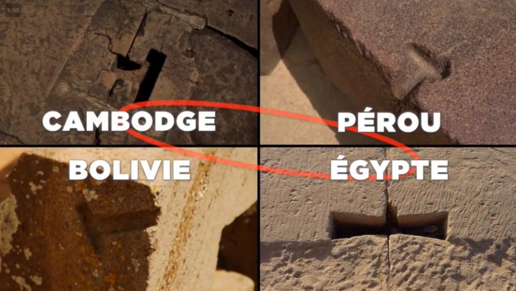 Système d'ancrage des pierres similaires aux 4 coins du monde