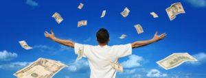 """un autre indice d'alignement est lorsque vous """"trouver"""" de l'argent de manière inattendue sur votre chemin"""