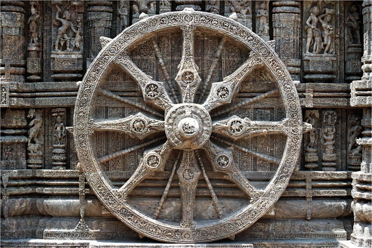 La roue du dharma, un symbol vieux d'il y a 2500 ans