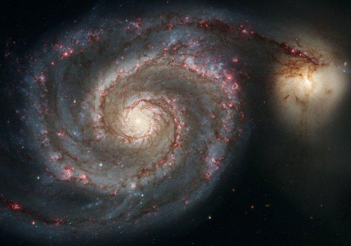 les galaxies et la spirale de fibonacci