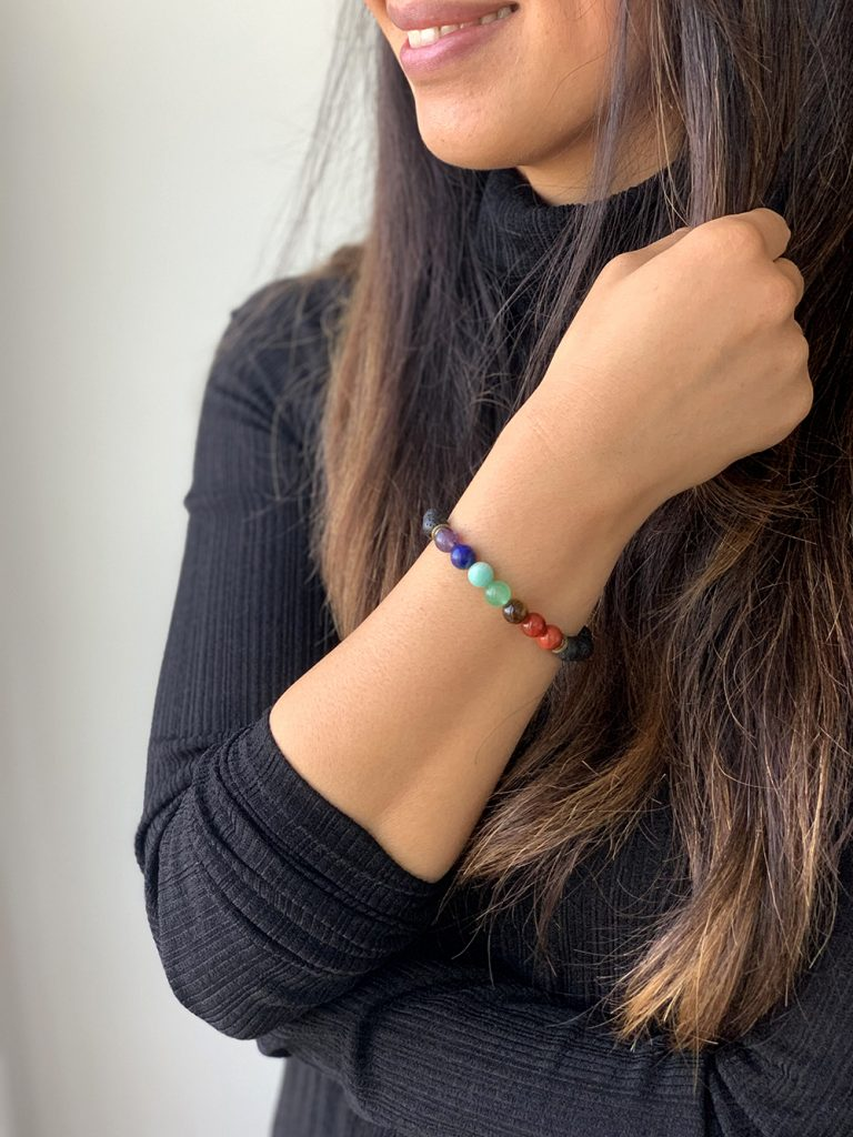 pierres de soin bracelet 7 chakras